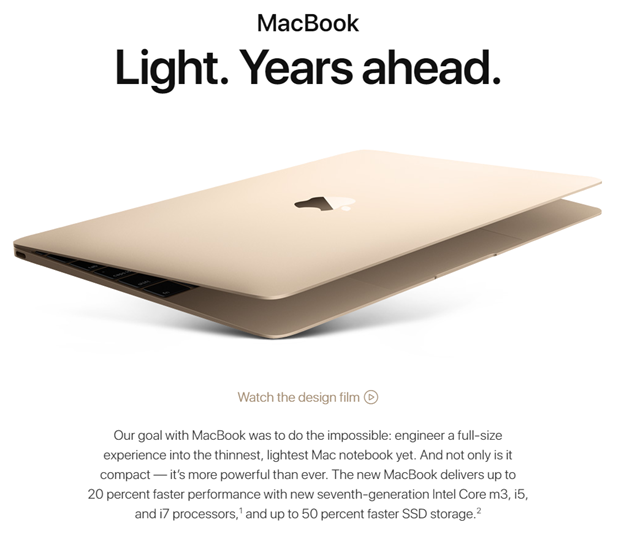 Apple MacBook, Rose gold
