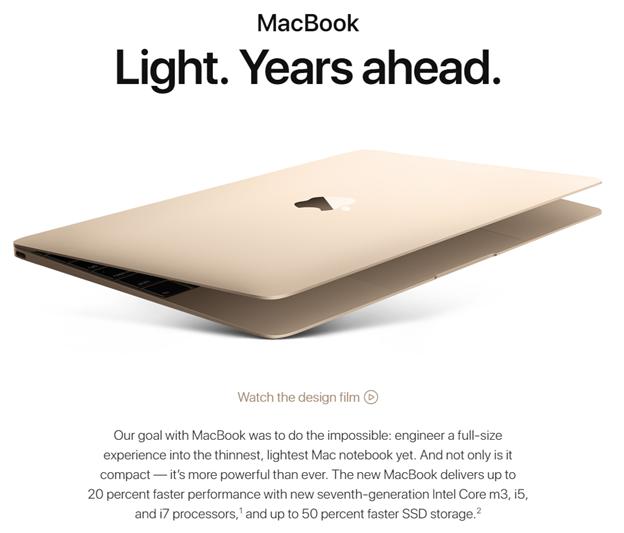 Apple MacBook, Rose gold