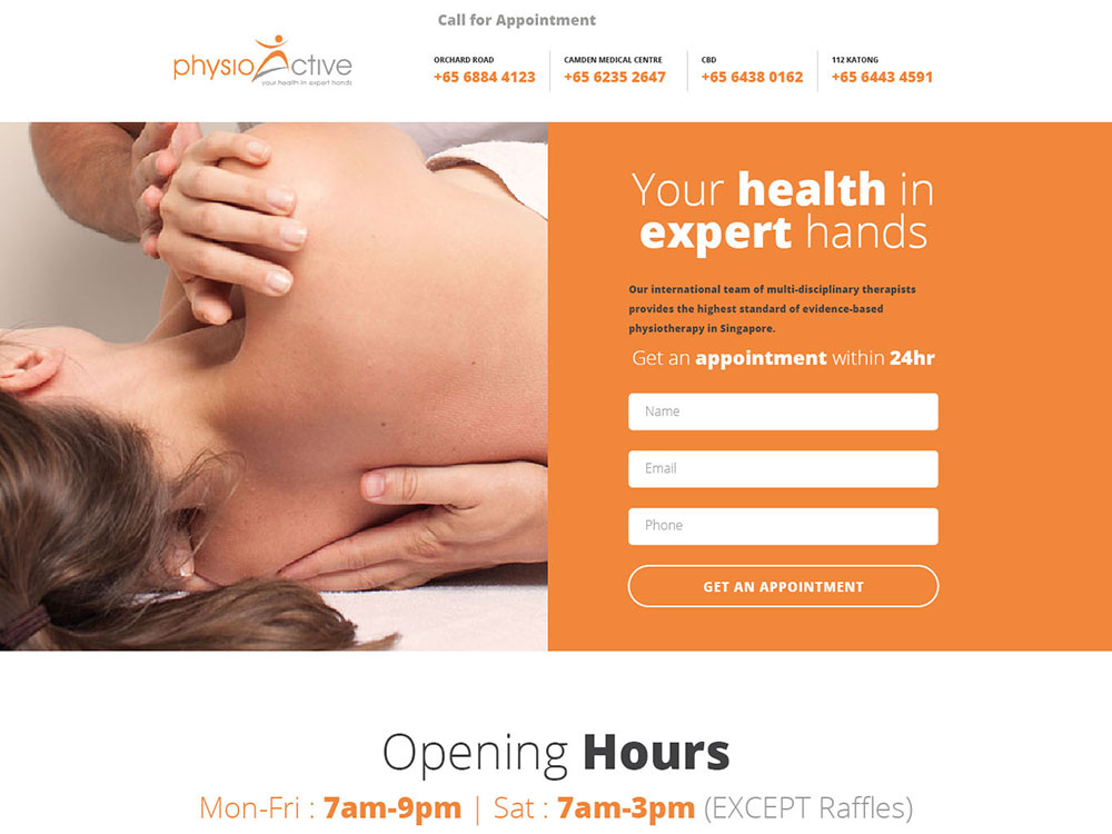 SEM Case Study - PhysioActive Landing Page