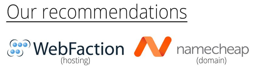 Our Hosting and Domain Name Recommendations - Webfaction and Namecheap - 2Stallions